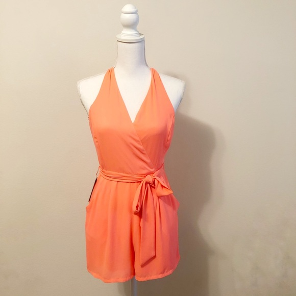 Express Dresses & Skirts - Express neon orange romper